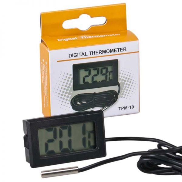 Digital Thermometer TPM-10 schwarz mit Sonde