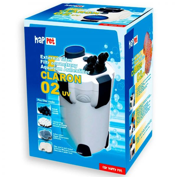 Happet Außenfilter Claron 02 mit UV für Aquarien bis 600 Liter
