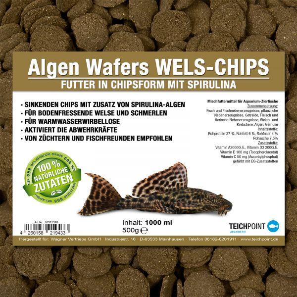 Algen Wafers Welsfutter in Chipsform mit Spirulina