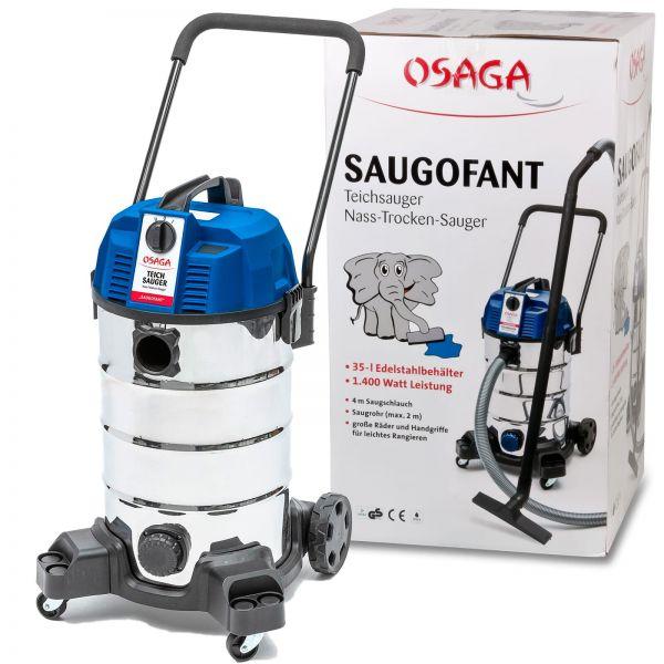 OSAGA Teichsauger Schlammsauger Saugofant 1400 Watt