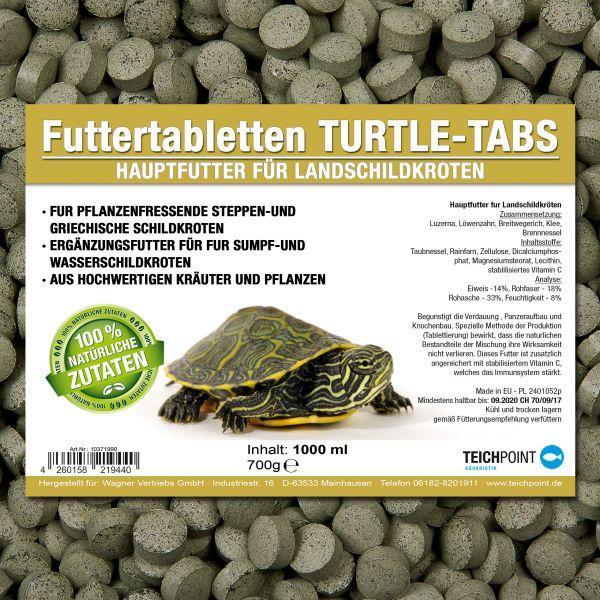 Futtertabletten Turtle Tabs für Pflanzenfressende Schildkröten