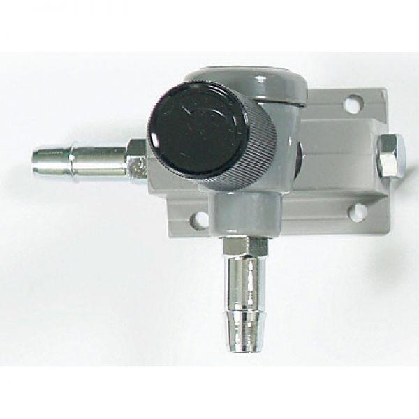 Luftverteiler mit Drehknopf für 9 mm Luftschlauch 1-fach