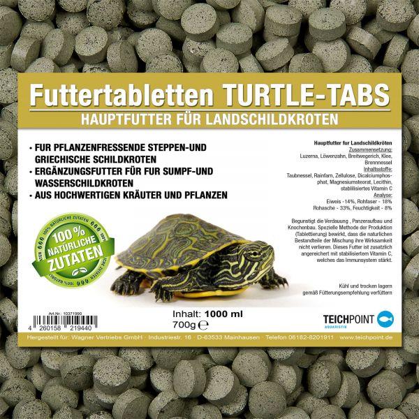 Futtertabletten Turtle Tabs für Pflanzenfressende Landschildkröten