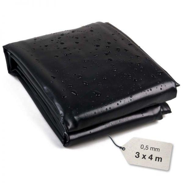 PVC Teichfolie schwarz 0,5 mm 3x4 meter