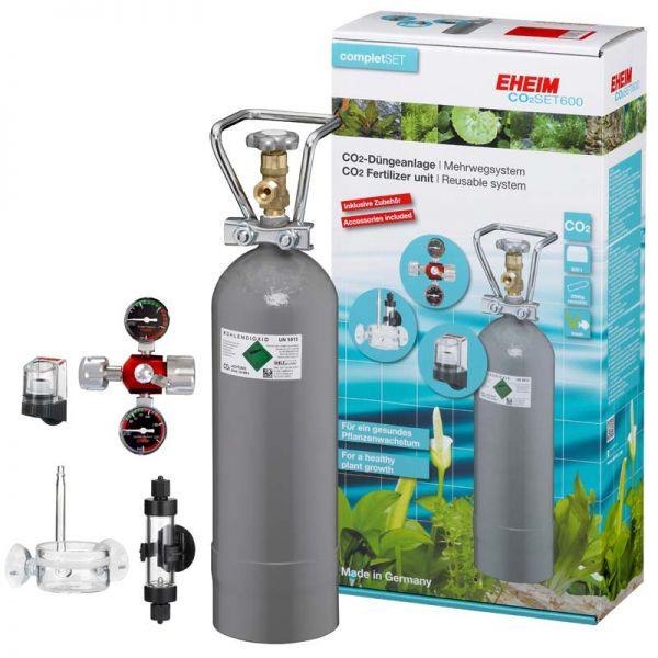 EHEIM CO2 Set 600 mit Mehrwegflasche 2000g