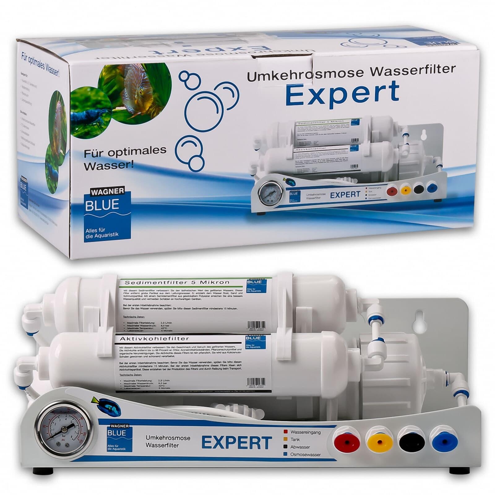 Ersatzfilter 3 Stufen Aquaristik Umkehrosmose Osmoseanlage für 3 Jahre 12 Stück