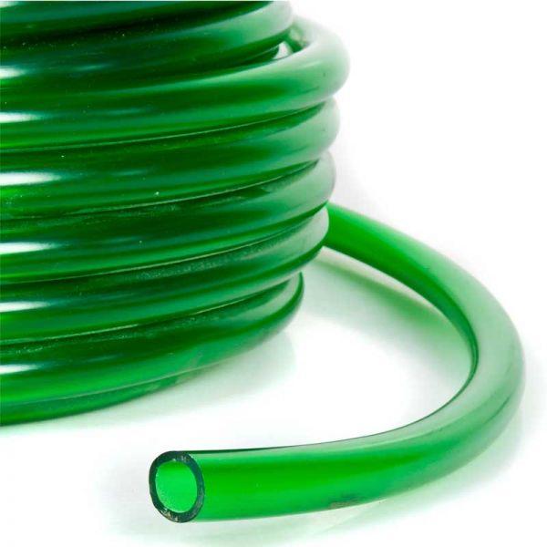 Aquariumschlauch grün, Meterware 12/16 mm