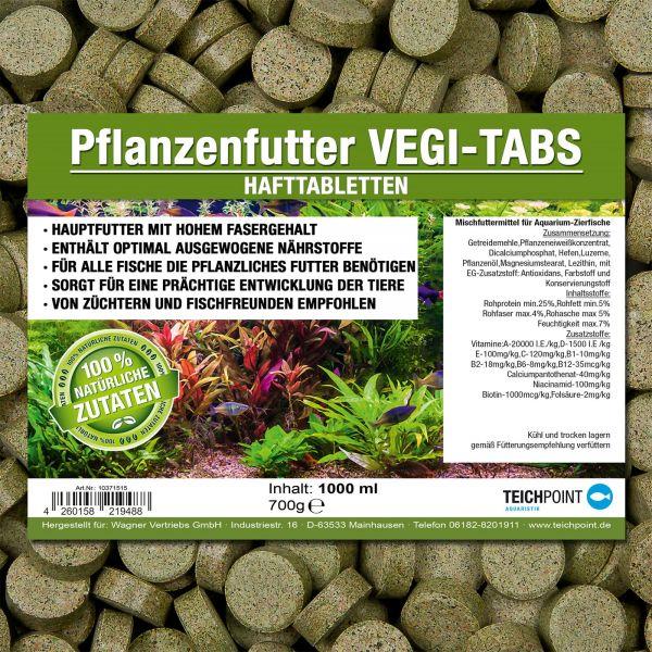 Vegi Tabs Hafttabletten mit Flanzenfutter für Aquarium Fische
