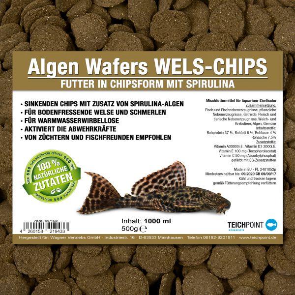 Algen Wafers WELS CHIPS - Chipsfutter mit Spirulina 1000 ml
