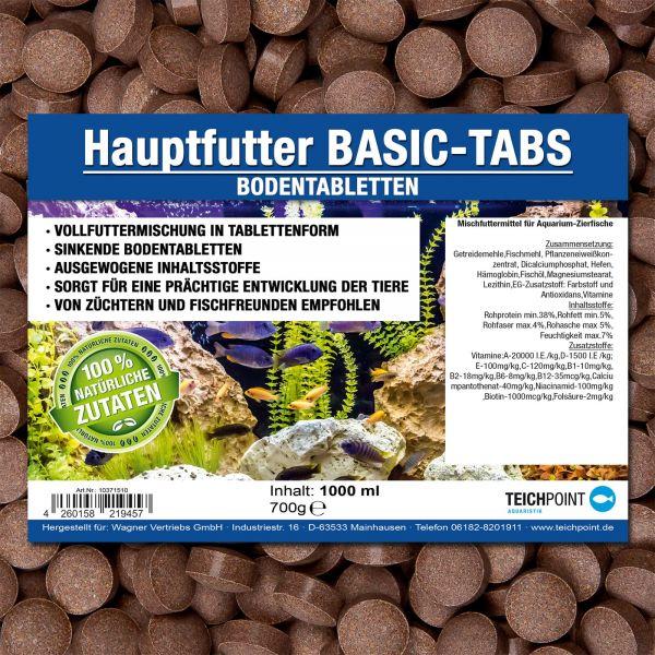 BASIC-TABS Bodentabletten - Futtertabletten für alle Zierfische 1000 ml