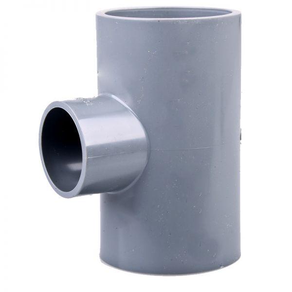 PVC T-Stück 90° 50x40x50 mm, reduziert ECO