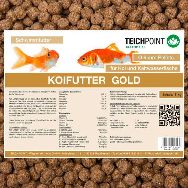 Koifutter Gold 5 kg 6 mm