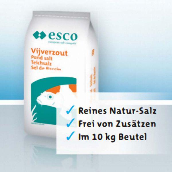 esco Teichsalz 10 kg - Reines Natur-Steinsalz für Teiche und Aquarien