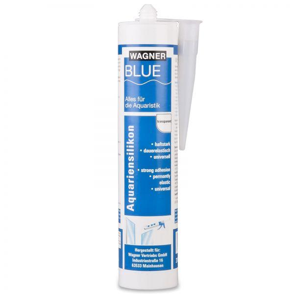 Wagner BLUE - Aquariumsilikon Silikon Kleber transparent 310 ml