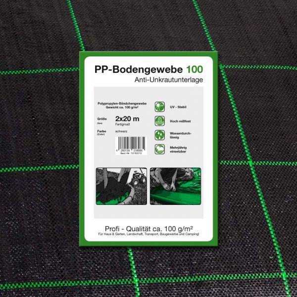 2 x 20 m Unkrautvlies Bodengewebe 100gr/m²