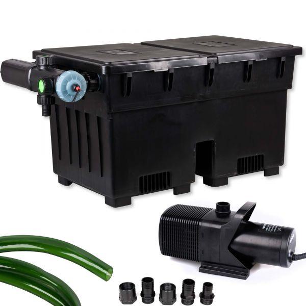 JEBO Teichfilter Set BIO100UV mit Pumpe für Teiche bis 16m³