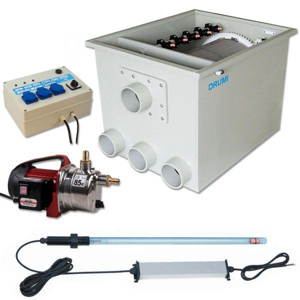 Trommelfilter Happet für Schwerkraft und Pumpen Version